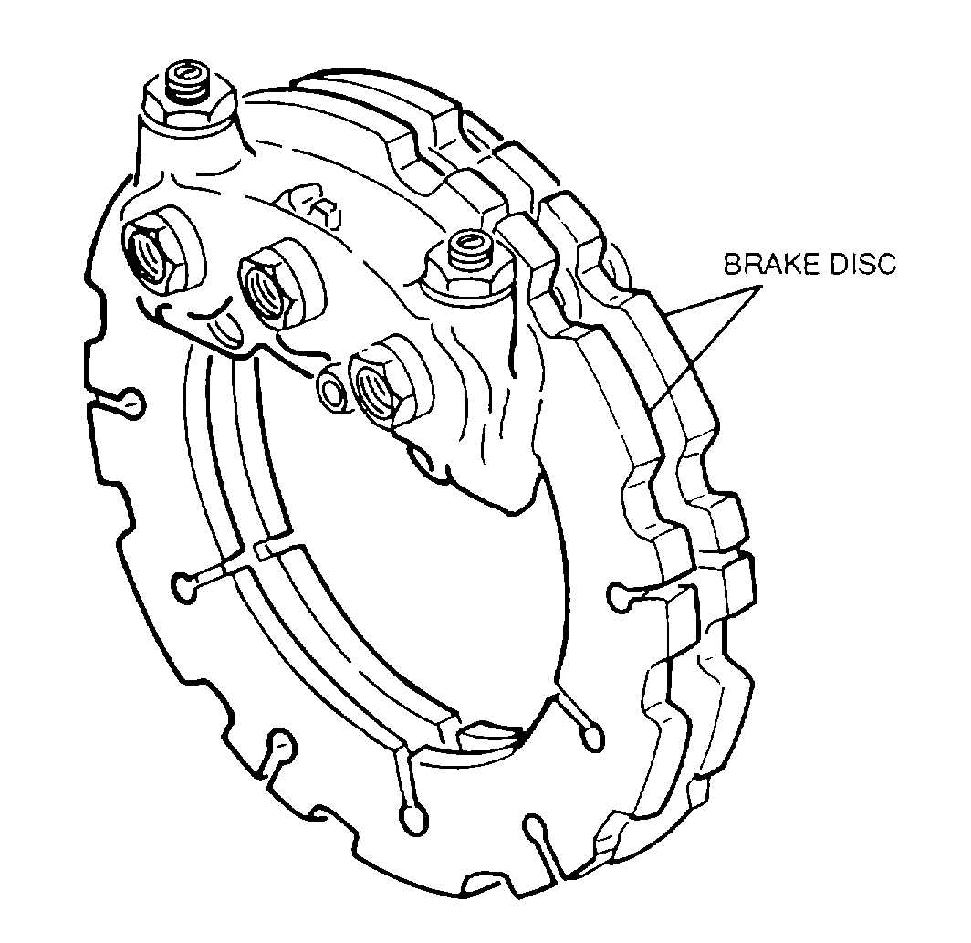 Brake Lining Draw : Figure disc brake assembly